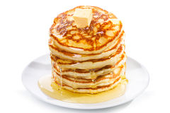 Pancakes with butter and syrup Royalty Free Stock Image