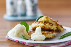 Pancakes from cauliflower Stock Images