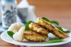 Pancakes from cauliflower Royalty Free Stock Photo