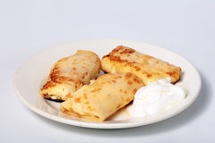 Pancakes with cheese Royalty Free Stock Image