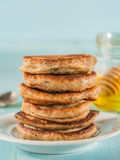 Pancakes with chia seeds Stock Photography