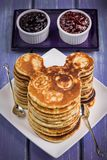 Pancakes for children. With a mouse shape stock photo