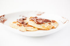 Pancakes with chocolate Royalty Free Stock Image
