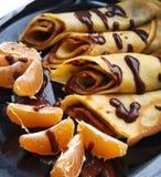 Pancakes. With chocolate Royalty Free Stock Photos