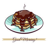 Pancakes With Chocolate Stock Image