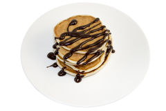 Pancakes with chocolate Stock Photography