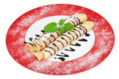 Pancakes; Clipping path Royalty Free Stock Image