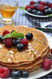 Pancakes close up Royalty Free Stock Photos