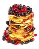 Pancakes. Close-up  on white background Stock Photos