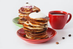 Pancakes and coffee for breakfast Stock Photography