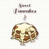 Pancakes With Condensed Milk Stock Photos
