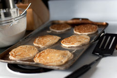 Pancakes Cooking Royalty Free Stock Photos