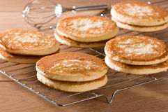 Pancakes On Cooling Rack Royalty Free Stock Image