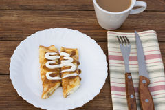 Pancakes with cottage cheese Stock Image