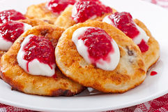 Pancakes of cottage cheese Stock Photo
