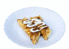 Pancakes with cottage cheese Royalty Free Stock Images