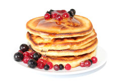 Pancakes with cranberries (image with clipping path) Stock Photo