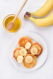 Pancakes from curd cheese Royalty Free Stock Photo