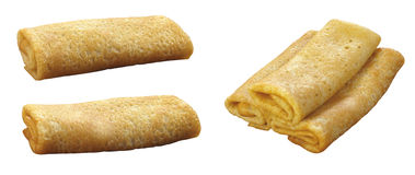 Pancakes curtailed by a tube Royalty Free Stock Image
