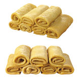 Pancakes curtailed by a tube Royalty Free Stock Photography