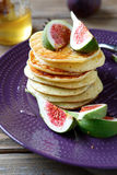 Pancakes with figs Royalty Free Stock Photo