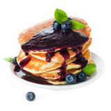 Pancakes with fresh berries Royalty Free Stock Photos