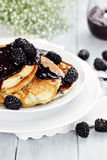 Pancakes and Fresh Berries Stock Images