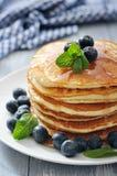 Pancakes with fresh berries Stock Photos