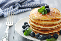 Pancakes with fresh berries Royalty Free Stock Photo