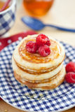Pancakes with fresh berries Royalty Free Stock Images