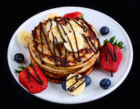 Pancakes with fresh Berries stock image