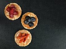 Pancakes With Fresh Fruit Dessert Stock Photography