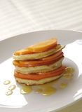 Pancakes with fruits and honey Stock Image