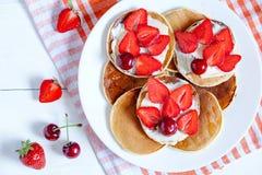 Pancakes homemade breakfast sweet pastry dessert Stock Image