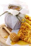 Pancakes with honey. Stock Photo