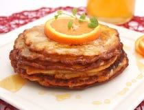 Pancakes with honey Stock Photos