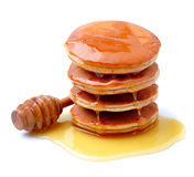 Pancakes in honey syrup Stock Photo
