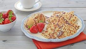 Pancakes and ice cream Stock Image