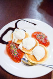 Pancakes and icecream Royalty Free Stock Image