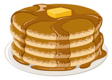Pancakes royalty free illustration