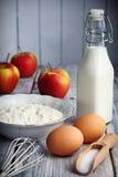 Pancakes ingredients Royalty Free Stock Image