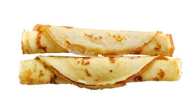 Pancakes isolated Royalty Free Stock Photography