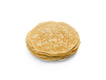 Pancakes the isolated Stock Images