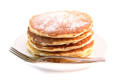 Pancakes isolated on white background Royalty Free Stock Image