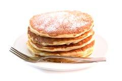 Pancakes isolated on white background Royalty Free Stock Image