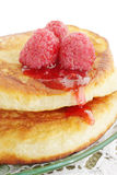 Pancakes with  jam Stock Photo