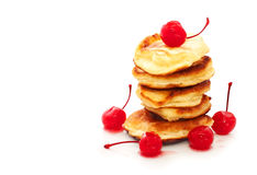 Pancakes with jam Stock Photos