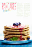 Pancakes with jam Stock Photo