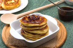 Pancakes with jam Royalty Free Stock Photography