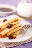 Pancakes with jam Royalty Free Stock Photo